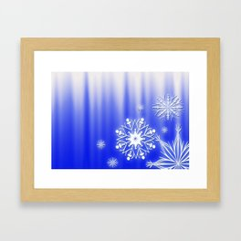 Merry Christmas. Snowflakes texture. Framed Art Print
