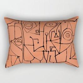 Cubist Lines #1 Rectangular Pillow
