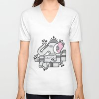 ganesh V-neck T-shirts featuring Ganesh by Strauss