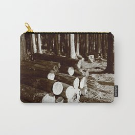 Stacked logs Carry-All Pouch