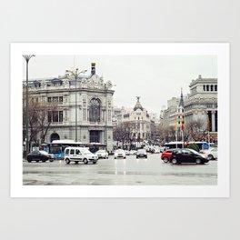 Madrid // Paseo del Prado Art Print