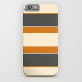 Minimal Abstract Vintage Cream Orange Grey 07 iPhone Case