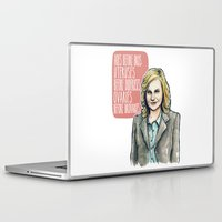 leslie knope Laptop & iPad Skins featuring Leslie Knope by Tiffany Willis