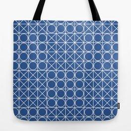 Geometric Tile Pattern Blue Tote Bag