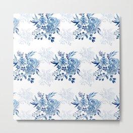 Floral Bliss - Blue I  Metal Print