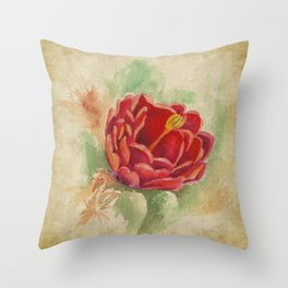 Vintage Cactus Throw Pillow