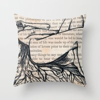 philosophy Throw Pillows featuring Philosophy of Law by Nikki D. May