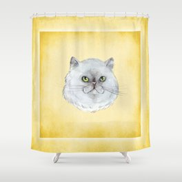 Little Ball of Furr Shower Curtain