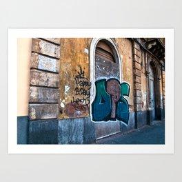 SICILIAN FACADE in CATANIA Art Print