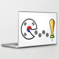 world cup Laptop & iPad Skins featuring Korea World Cup 2014 by onejyoo