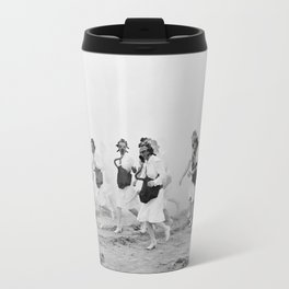 Nurses in Gas Masks - Vintage Military Photo Travel Mug