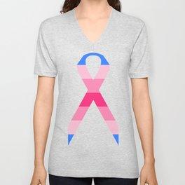Trans Woman Ribbon Unisex V-Neck