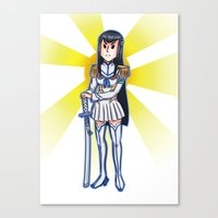 kill la kill Canvas Prints featuring Kill la kill - SATSUKI  by Fenlaf
