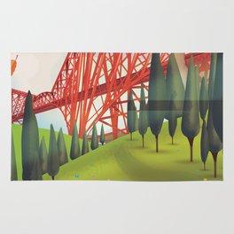 Forth Bridge, Firth of Forth,Scotland Rug