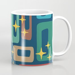 Retro Mid Century Modern Abstract Pattern 221 Coffee Mug