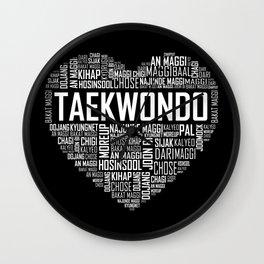 Love Taekwondo Heart Wall Clock