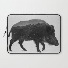 Wild Boar (B&W) Laptop Sleeve