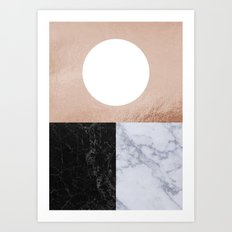 Copper Granite Art Print