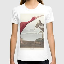 Scarlet Ibis from Birds of America (1827) by John James Audubon (1785 - 1851 ) etched by Robert Havell (1793 - 1878) T-shirt