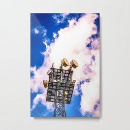 Radio Tower Cloudy Sky bright Metal Print
