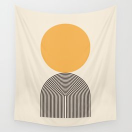 Abstraction_NEW_SUNLIGHT_YELLOW_POP_ART_Minimalism_001Y Wall Tapestry