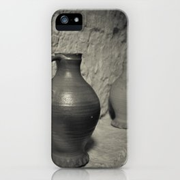 Antique Wine Jugs at Hampton Court Palace iPhone Case