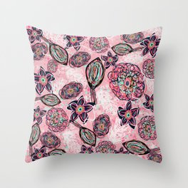 Blush blush Throw Pillow