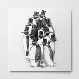 A Gathering of Gentlemen Metal Print