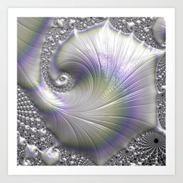 Fractal Art-Opalescent Shell Art Print