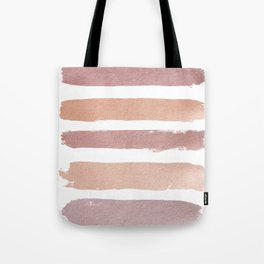 Dusty Rose Stripes Tote Bag