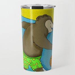 Surfs Up Bear Travel Mug