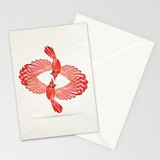 red cardinal Stationery Cards