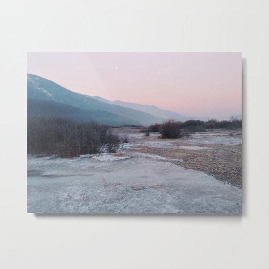Frozen morning Metal Print
