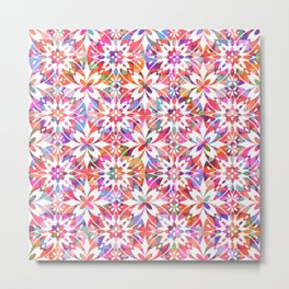 Mediterranean Tiles N.02 / Colorful Summer Festival Metal Print