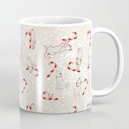 Candy Cane Shiba Inus Coffee Mug