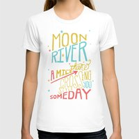 river song T-shirts featuring MOON RIVER by Matthew Taylor Wilson