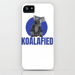 Highly Koalafied Lock Smith design Funny product iPhone Case
