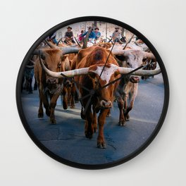 Denver National Western Stock Show Kick-of Parade 2018 Wall Clock