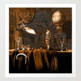 After theater (Gulliver in the giant country) Art Print