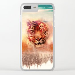 Tigerland animal t shirt, animal print t shirt, wildlife t shirt, Clear iPhone Case