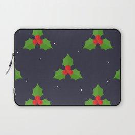 Red Christmas Mistletoe Pattern Laptop Sleeve