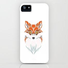 Tribal Fox - Wild Animal Art - Exotic Animals iPhone Case