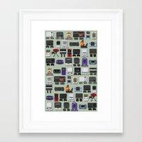 gamer Framed Art Prints featuring Gamer by James Brunner