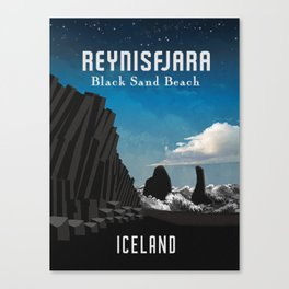 Iceland: Reynisfjara Canvas Print