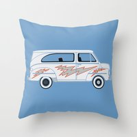 grease Throw Pillows featuring Grease Van Lightning by Brandon Ortwein