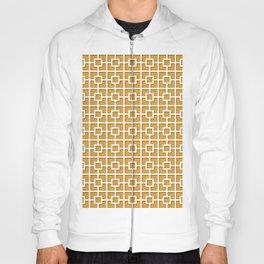 Saffron Orange Square Chain Pattern Design Hoody
