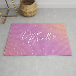 Deep Breaths - Inspirational Quote Rug