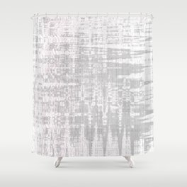 Greyish dirty and wavy look on white pavement Shower Curtain