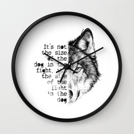 the fight in the dog Wall Clock