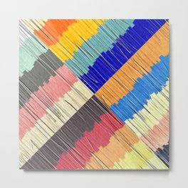 Cool Colors Collage Metal Print